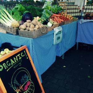 Organic veggie Ballymaloe stall